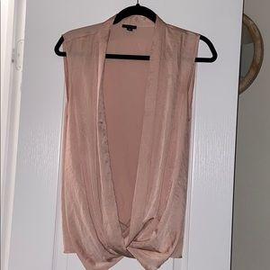 Ann Taylor light pink Sleeveless Silk Top